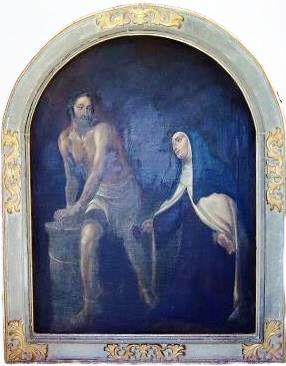 Cristo atado a la cruz se aparece a Santa Teresa